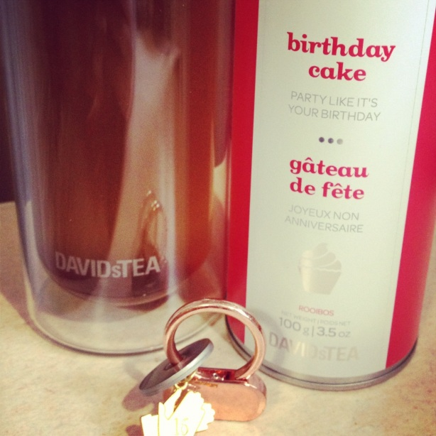 Birthday Cake - A Rooibos  Tea  (P.s. check out my Weight Watchers 360 medals)